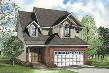 Architectural House Design - Country Exterior - Front Elevation Plan #17-3254