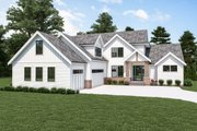 Farmhouse Style House Plan - 4 Beds 2.5 Baths 3828 Sq/Ft Plan #1070-119 Exterior - Front Elevation