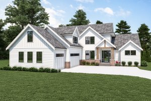 Dream House Plan - Farmhouse Exterior - Front Elevation Plan #1070-119