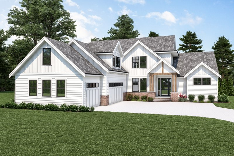 Home Plan - Farmhouse Exterior - Front Elevation Plan #1070-119