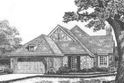 Tudor Style House Plan - 2 Beds 2 Baths 1889 Sq/Ft Plan #310-481 Exterior - Front Elevation