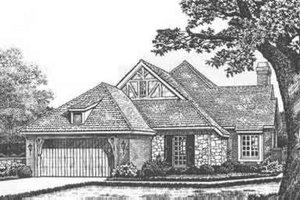 Tudor Exterior - Front Elevation Plan #310-481
