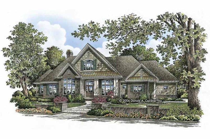 Craftsman Exterior - Front Elevation Plan #929-803 - Houseplans.com