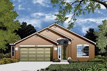 Architectural House Design - Contemporary Exterior - Front Elevation Plan #1015-28