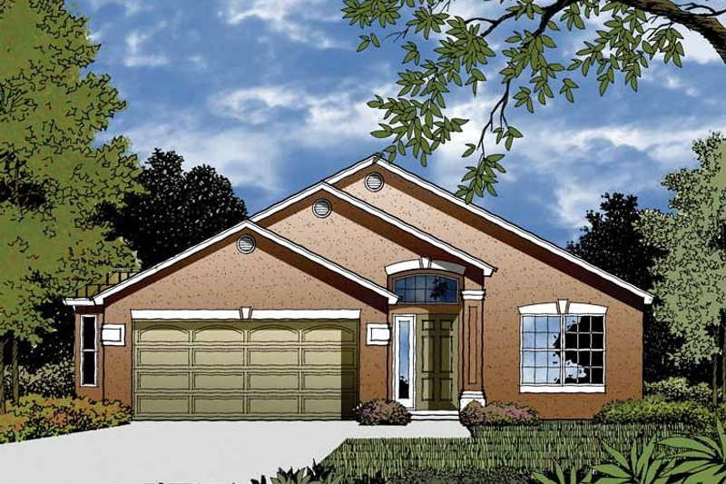 Contemporary Exterior - Front Elevation Plan #1015-28