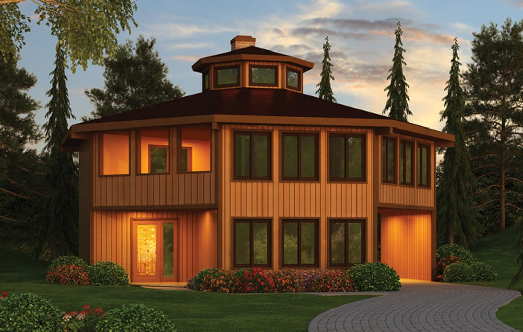 Contemporary Style House Plan - 4 Beds 3 Baths 2078 Sq/Ft Plan #314 ...