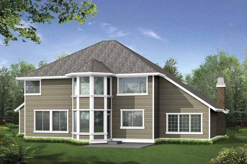Craftsman Exterior - Rear Elevation Plan #132-407 - Houseplans.com