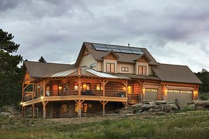 Log Home Plans | Log Home and Cabin Floor Plans  Bedroom House Plans With Inlaw Sutie Html on