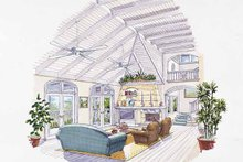 Country Interior - Family Room Plan #930-62