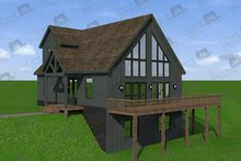 Dream House Plan - Cabin Exterior - Front Elevation Plan #932-250
