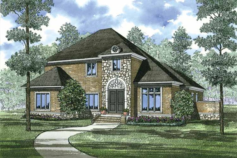 Dream House Plan - Colonial Exterior - Front Elevation Plan #17-3271