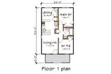 Cottage Floor Plan - Main Floor Plan Plan #79-102