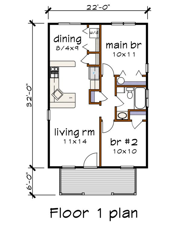 Dream House Plan - Cottage Floor Plan - Main Floor Plan #79-102