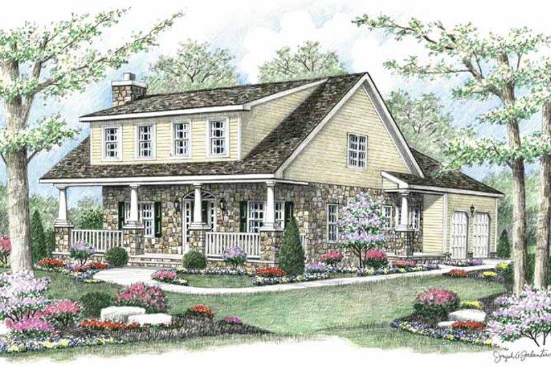 Colonial Exterior - Front Elevation Plan #1002-11 - Houseplans.com
