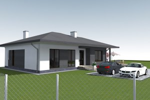 Bungalow Exterior - Front Elevation Plan #549-28