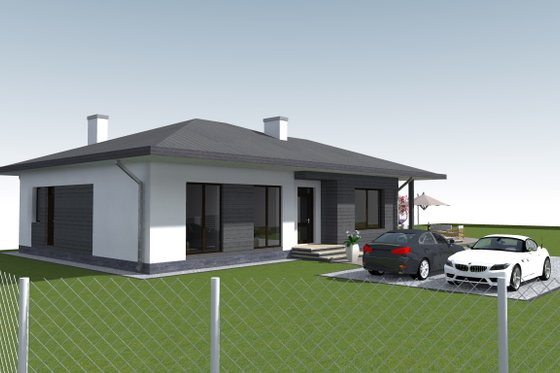 Bungalow Exterior - Front Elevation Plan #549-28