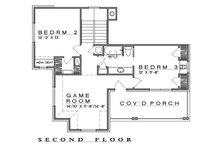 Farmhouse Floor Plan - Upper Floor Plan Plan #935-19
