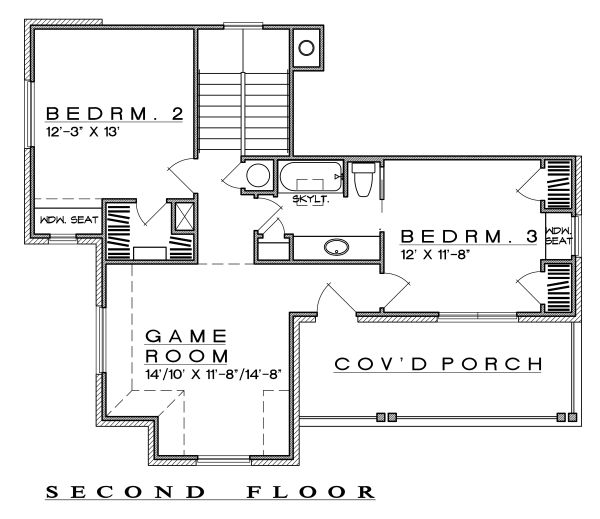 Farmhouse Floor Plan - Upper Floor Plan Plan #935-19