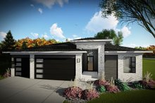 Dream House Plan - Contemporary Exterior - Front Elevation Plan #70-1489