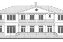 Colonial Exterior - Rear Elevation Plan #1058-82