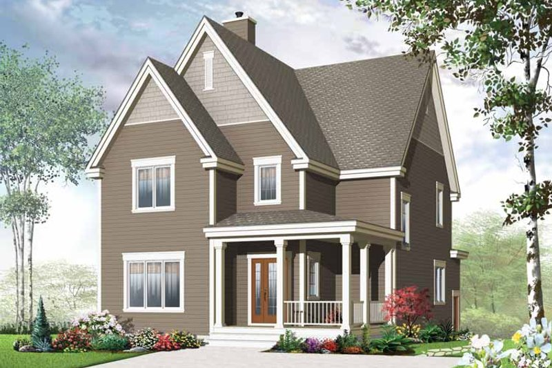 Architectural House Design - Traditional Exterior - Front Elevation Plan #23-2505