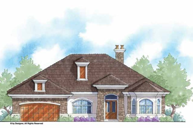 Country Exterior - Front Elevation Plan #938-50