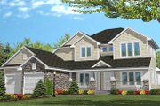 Traditional Style House Plan - 4 Beds 2 Baths 2450 Sq/Ft Plan #50-105 Exterior - Front Elevation
