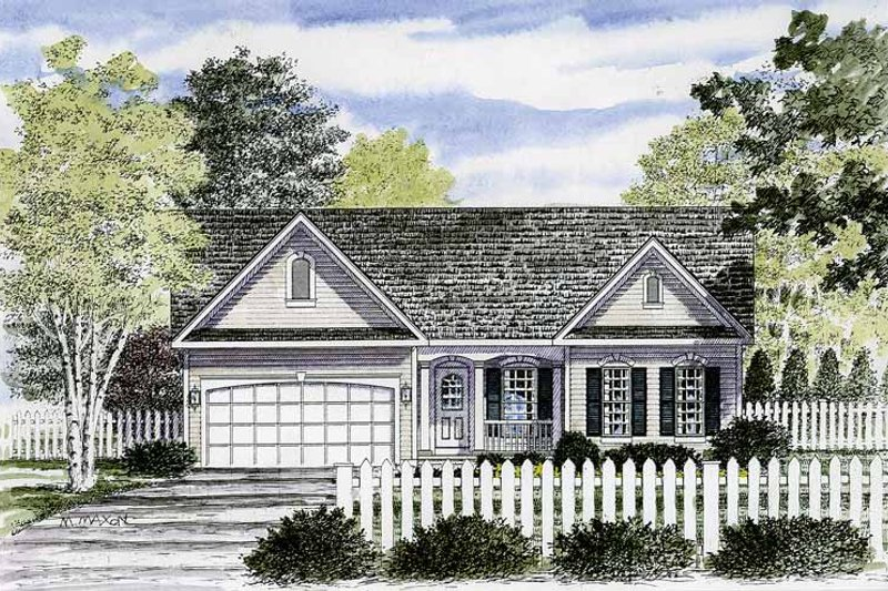 Ranch Exterior - Front Elevation Plan #316-236