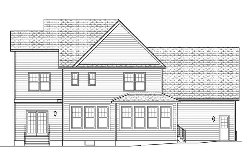Traditional Exterior - Rear Elevation Plan #1010-133 - Houseplans.com