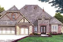 Architectural House Design - Country Exterior - Front Elevation Plan #310-1235