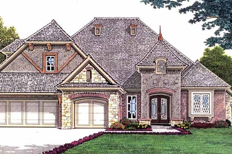 Country Exterior - Front Elevation Plan #310-1235