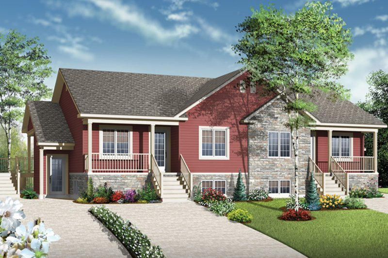 Country Exterior - Front Elevation Plan #23-2594