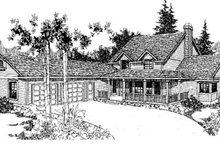 Dream House Plan - Farmhouse Exterior - Front Elevation Plan #60-120