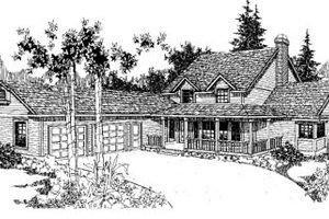 Farmhouse Exterior - Front Elevation Plan #60-120