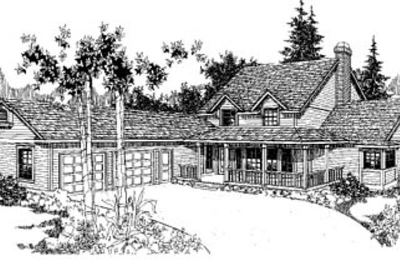 Farmhouse Style House Plan - 4 Beds 2.5 Baths 1950 Sq/Ft Plan #60-120 Exterior - Front Elevation