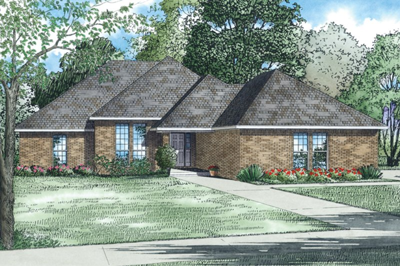 Ranch Exterior - Front Elevation Plan #17-2837