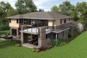 Contemporary Style House Plan - 4 Beds 4.5 Baths 4106 Sq/Ft Plan #48-651 Exterior - Rear Elevation
