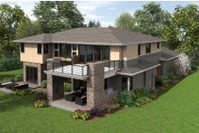 Contemporary Exterior - Rear Elevation Plan #48-651