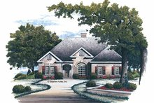 House Plan Design - Traditional Exterior - Front Elevation Plan #429-116