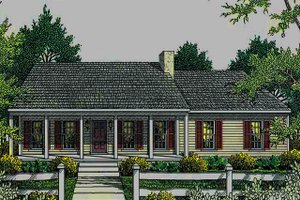 Architectural House Design - Country Exterior - Front Elevation Plan #406-132
