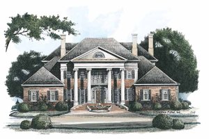 Dream House Plan - Classical Exterior - Front Elevation Plan #429-144
