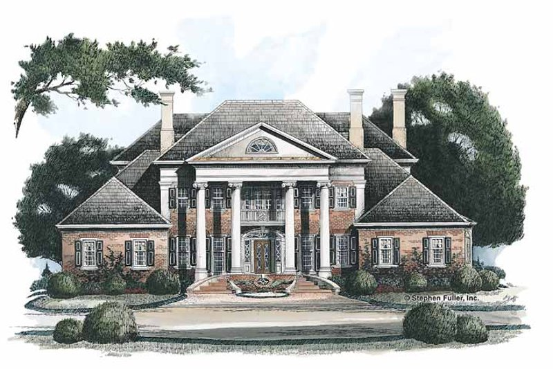 Classical Exterior - Front Elevation Plan #429-144