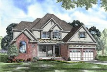 Architectural House Design - Traditional Exterior - Front Elevation Plan #17-3111