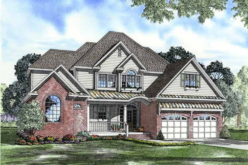 Dream House Plan - Traditional Exterior - Front Elevation Plan #17-3111