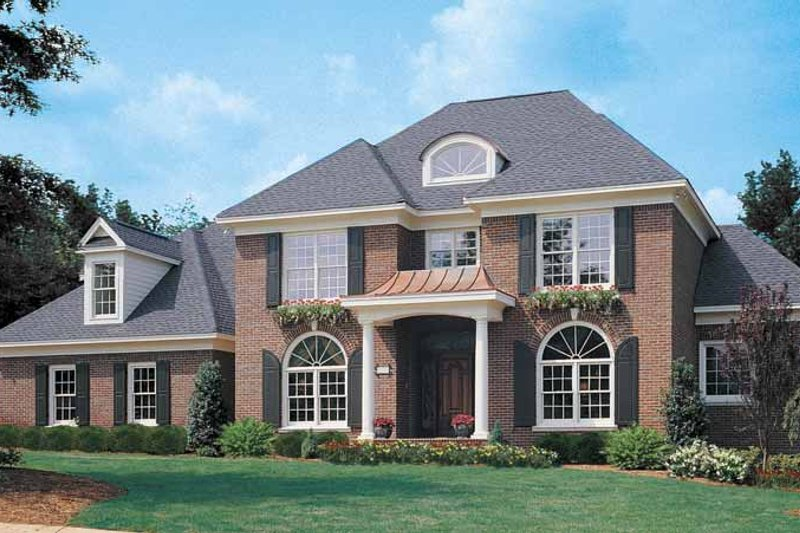 Dream House Plan - Colonial Exterior - Front Elevation Plan #929-571