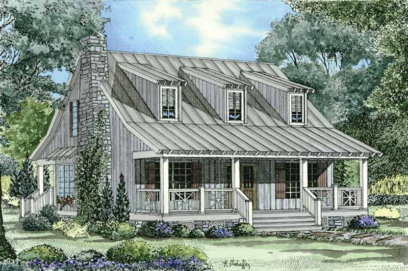 Colonial Exterior - Front Elevation Plan #17-2882