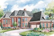 European Style House Plan - 4 Beds 3.5 Baths 3863 Sq/Ft Plan #20-1173 Exterior - Other Elevation