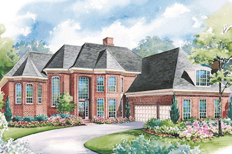 European Exterior - Other Elevation Plan #20-1173 - Houseplans.com