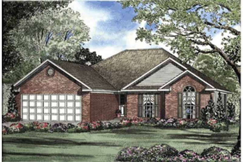 Ranch Exterior - Front Elevation Plan #17-3010