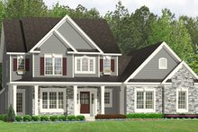 Dream House Plan - Colonial Exterior - Front Elevation Plan #1010-197